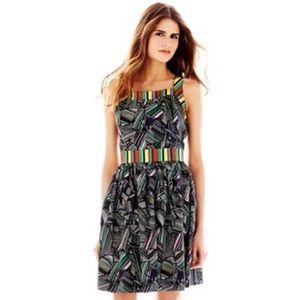 Duro Olowu black mix print dress size 6